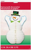 Happy Holidays snowman Honeycomb Centrepiece